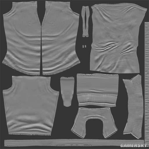 劳拉/修改主要就是上面这几张贴图,还有其它一些贴图如布料的细小...